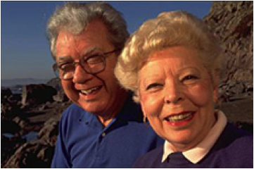 Photo of happy older man and woman