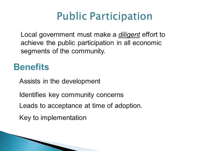 Slide from webinar of public participation