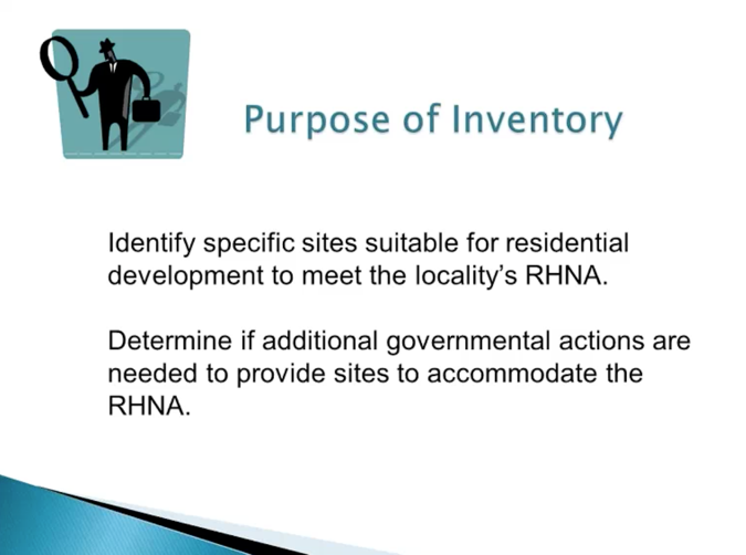 Slide from webinar of purpose of inventory