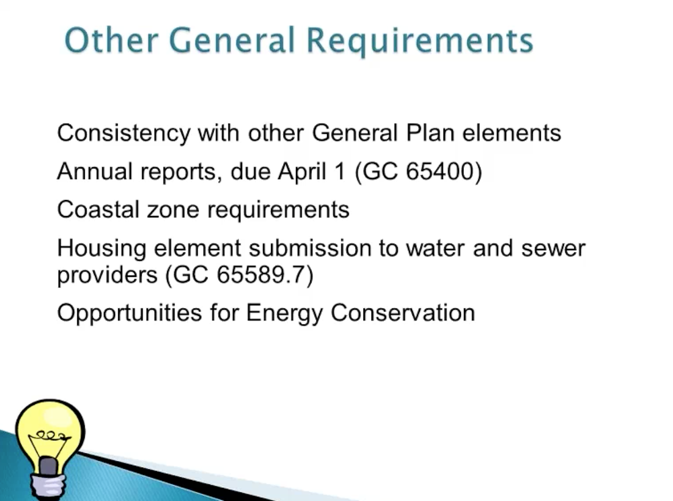 Slide from webinar of general requirements